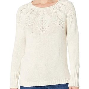 Petite Cable Knit Cotton Sweater - Size S